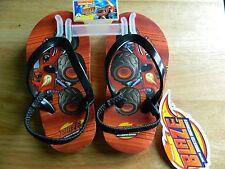 Blaze Monster Machine kids slip on flip flops boys toddler size 5/6