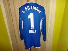 1.fc Unión berlín Saller portero matchworn camiseta 2004/05 + nº 1 Hinz talla L/XL