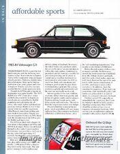1983 1984 VW Volkswagen GTI Original Car Review Print Article J697