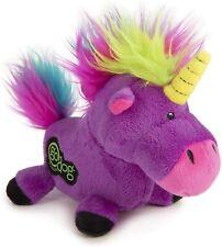 goDog Unicorns Durable Unicorn Plush Dog Toy Purple Small rainbow haired 1 pack