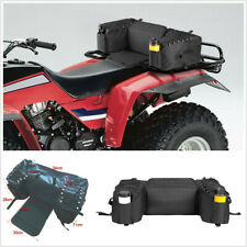 ATV Rear Bag Padded Seat Bottom Support Storage Rack Bags Built-in Bottle Holder