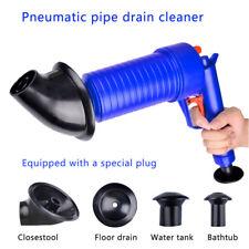 Drain Cleaner High Pressure Compressed Air Blaster Pump Manual Plunger Sink Pipe