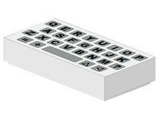 1 St. NEUE 1x2 Fliesen weiss mit Computertastatur (3069bp80)  F6