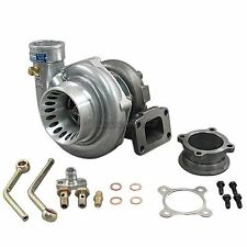 GT35 T3 Turbo Charger Anti-Surge 500+ HP + Oil Fitting Complete Accessories Kit