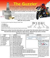 Suzuki RGV250 Pingel Guzzler Race fuel tap. twin 5/16 outlet. 3/8 NPT fitting.