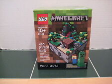 Lego MineCraft  #21102 Micro World Steve and Creeper Micromobs