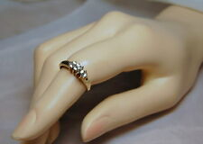 10k Gold Diamond 0.17ct Cocktail Ring Size 7