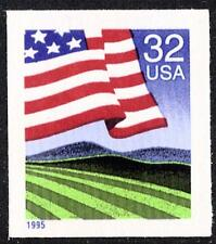 Scott #2919 32-Cent Flag Over Field Self-Adhesive Imperforate ATM Single - MNH
