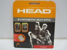**NEW** LOT OF 4 SETS HEAD SYNTHETIC GUT PPS 17 (1.24) WHITE TENNIS STRING