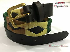 Leather Polo Belt Argentinian Style Brown Equestrian