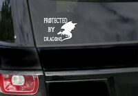 Protected By Dragons Game of thrones Inspired funny car  sticker/vinyl/decal