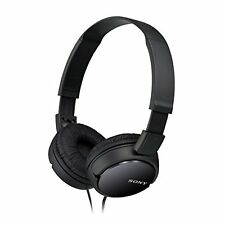 Casque STEREO filaire Noir pliable son Puissant Sony Mdr-zx110