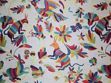 "RICHLOOM OTAMI CARNIVAL BLUE BIRD ANIMAL JACQUARD UPHOLSTERY FABRIC BY YARD 58""W"