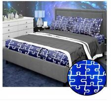 Bedsheet Fitted Sheet Cover Linen Collection w/Pillowcase - DARK BLUE (SINGLE)