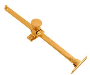 "Polished Brass Window Lock Stay 10""/250mm Screw Down Casement Sliding Arm Handle"