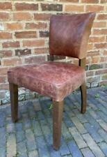 Leather Dining Chair - Vintage Distressed Brown - Studded Back - Top Quality