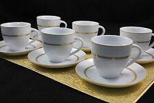 Topkapi Victoria TK-990 12 pz. Set da caffè con Decorazione oro Tazze e