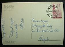 1958  ITALIA  15 lire   Lourdes- Bernadette  Cartolina Viaggiata