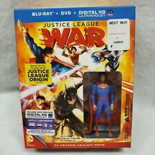 BEST BUY EXCLUSIVE NEW JUSTICE LEAGUE WAR W/ SUPERMAN FIGURINE Statue BLU-RAY