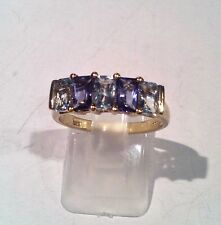 9ct Yellow Gold Topaz Ring. Size N. Free P&P                                R147