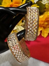 Traditional 2PC Gold Plated  pearl Bangles Set : size 2.5..very beautiful high
