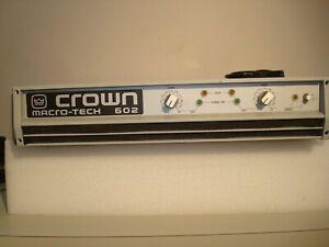 Crown Macro-Tech 602 Stereo Audio Power Amplifier Very Good Clean Working