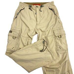 Abercrombie & Fitch Beige T-2083 Paratrooper Cargo Parachute Pants Mens Medium M