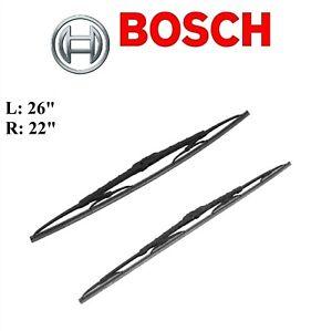 2PCS BOSCH FRONT D-Connect Wiper Blade For LEXUS RX330 2004-2006/RX350 2007-2015