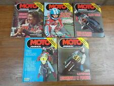 LOT 5 REVUES vintage MOTO JOURNAL ANNEE 1976 Nos 266 267 268 269 270