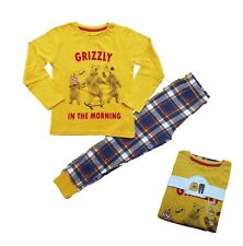 Boys 'Grizzly' Pyjamas PJs Gift Set Long Sleeves Cotton Gift Slim Snuggle Fit