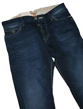 Hugo Boss 50218615 Navy Blue Denim Arancione 37 Cupo Regular Fit Jeans W31 / L34