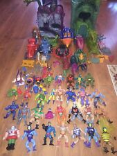 He-Man Masters Of The Universe Vintage Lot 32 Figures 10 Vehicles Grayskull