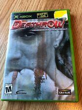 Deathrow (Microsoft Xbox, 2002) Cib Game H3