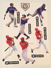Rangers MLB FATHEAD Team Set of 13 Yu Darvish Michael Young Nelson Cruz Beltre +