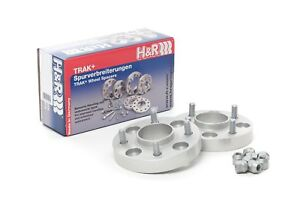 H&R 25mm Silver Bolt On Wheel Spacers for 1999-2004 Mazda Protege 5