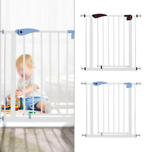 Auto Close Safety Gate Pet Dog baby Stair Doorway Safe Secure Guard 80-91cm