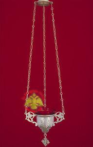 Orthodox Vigil Lamp Sterling Silver Orthodoxe Ikonenampel Ewiges Licht Silber