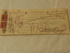 1938  BANK OF MONTREAL Negotiated Check for $1,247.38 with revenue Stamps