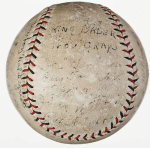Providence Grays Team Signed Autographed Baseball Babe Ruth's FIRST Team JSA