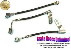 REAR DISC RUBBER BRAKE HOSE SET Ford Granada 1975 1976 1977 1978 1979 1980
