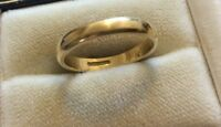Superb Quality Vintage Fully Hallmarked Solid 18 Carat Gold Wedding Band Ring