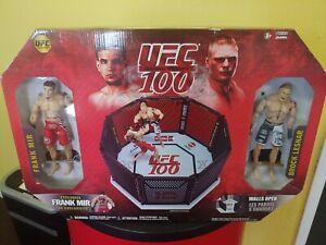 Jakks Pacific UFC 100 Octagon Set with Brock Lesnar & Frank Mir New Sealed RARE