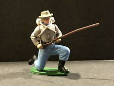 (1) 60'S BRITAINS/SWOPPET/ENGLAND TOY SOLDIER ACW CONFEDERATE KNEELING DOWN