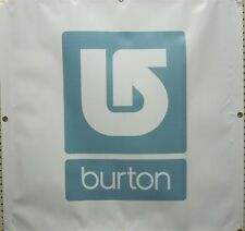Burton snowboard 2009 dealer only corp Square banner Blue Flawless New Old Stock