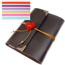 30 Pages PU Leather 120 Photo Albums Travel Scrapbook Memory Gift Self-Adhesive