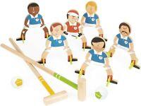 Janod Football Champions. Children's Wooden Croquet Set ( freestanding )