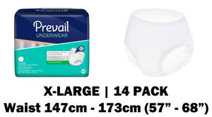 Prevail X-Large Disposable Incontinence Pull Up Pants, 14 incontinence pants