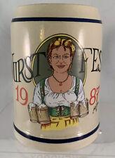 1987 Retired Wurstfest Mug New Braunfels Tx Octoberfest Beer .5 Liter W Germany