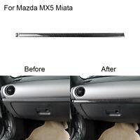 For Mazda MX-5 Miata Carbon Fiber Co-pilot Console Decorative Strip Cover RHD