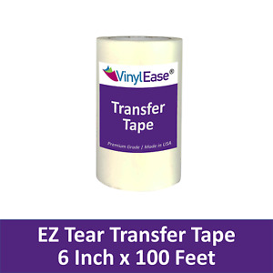 6 in x 100 ft Roll of Clear EZ TEAR Transfer Tape for Sign Craft Vinyl V0824